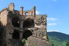 Castle ruins. Old Castle ruins in Heidelberg castle, germany. Koenigsstuhl Stock Photo