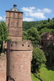 Castle ruins. Old Castle ruins in Koenigsstuhl. Castle in Heidelberg Germany Royalty Free Stock Photos