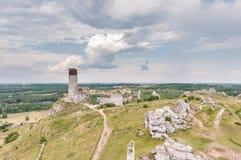Castle ruins in Olsztyn Royalty Free Stock Image
