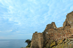 Castle ruins, Palamos, Spain. Royalty Free Stock Image
