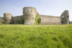 Castle Ruins, Pevensey, England Stock Photos