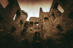 Castle Ruins in Poland Royalty Free Stock Images