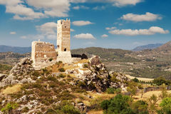 Castle ruins in province of Alicante Royalty Free Stock Photo