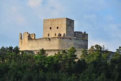 Castle ruins Rabi. Rabí or Rábí is ruined castle in Southwestern Bohemia Royalty Free Stock Image