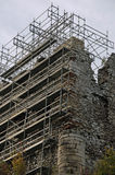 Castle ruins during renovation. Photo of castle ruins during renovation stock photos
