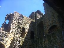 Castle ruins. A scene of historical castle ruins Stock Photos