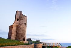 Castle ruins by sea Royalty Free Stock Photo