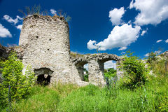 Castle ruins in Sidoriv Royalty Free Stock Image