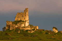 Castle ruins in a sunset light Stock Image