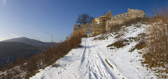 Castle ruins of Topolcany Royalty Free Stock Photography
