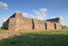 Castle ruins, Venice, Poland Royalty Free Stock Photos