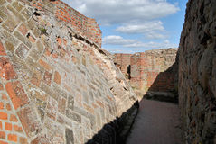 Castle ruins, Venice, Poland Royalty Free Stock Photography