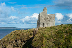 Castle ruins on the west coast of Ireland Stock Image
