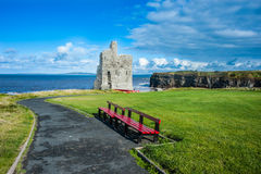 Castle Ruins on the west coast of Ireland royalty free stock photos
