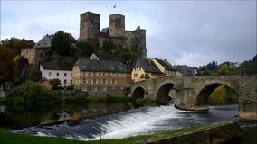 The castle Runkel stock video footage