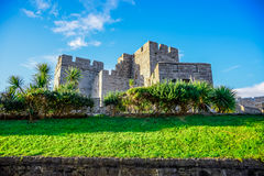 The Castle Rushen in the Isle of Man. The Castle Rushen, Isle of Man stock images