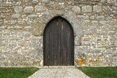 Castle`s door stock photography