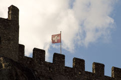 Castle's flag Royalty Free Stock Photography