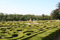 Castle's garden. Beautiful castle's garden in France stock photography