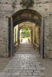 Castle's gate. Royalty Free Stock Image