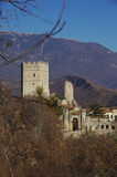 The castle of S.Martino. This castle is the home of the Bishop of Vittorio Veneto since the medieval age, when the bishop was the lord of all the surrounding royalty free stock photo