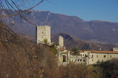Castle of S.Martino. This castle is the home of the Bishop of Vittorio Veneto since the medieval age, when the bishop was the lord of all the surrounding hills stock photography