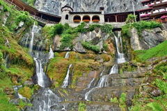 Castle´s waterfalls Stock Photo