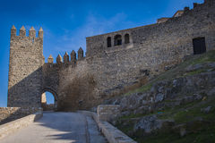Castle Sabiote. ( Province of Jaen, Spain ) was built in the thirteenth century , but due to the defensive prominence that occupies the hill throughout the Royalty Free Stock Photos