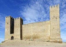Castle in Sadaba with beauty sky in Saragossa, Spain Stock Photography