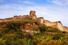 The Castle of Sagunto in summer Royalty Free Stock Photos