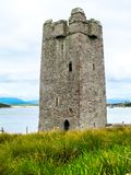 Kildavnet Castle, 15th-century Irish rectangular tower house. The castle is said to have been built by the O'Malley Clan in about 1429. However it is best stock photography