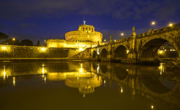 The castle saint angel rome italy europe Royalty Free Stock Images