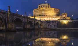 The castle saint angel rome italy europe Stock Images
