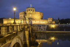 The castle saint angel rome italy europe Royalty Free Stock Photo