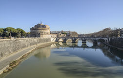 The castle saint angel rome italy europe Stock Photos