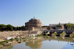 Castle of Saint Angelo and Bridge of Angels Stock Photography