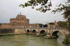 Castle of Saint Angelo and Bridge of Angels Royalty Free Stock Photos