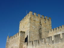 The castle of Saint George in Lisbon in Portugal Stock Photo