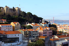 Castle of Saint George, Lisbon, Portugal royalty free stock image