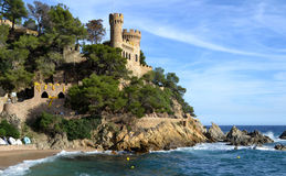 Castle Saint Joan in Lloret de Mar, Spain Stock Image