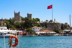 Castle of Saint Peter in Bodrum Royalty Free Stock Photos