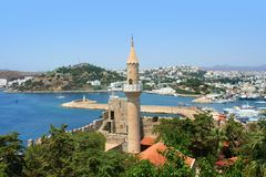 Castle of Saint Peter in Bodrum. stock photos