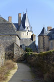 Castle of Sainte-Suzanne in France Stock Photos