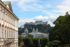 Castle in salzburg Stock Photo