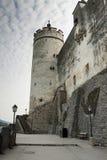 Castle in Salzburg, Austria. City of Salzburg, Austria. Baroque architecture and castle Stock Photos