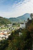 Castle in Salzburg, Austria. City of Salzburg, Austria. Baroque architecture and castle Royalty Free Stock Photos