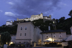 Castle Salzburg. In the blue Stock Photo