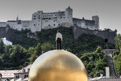 Castle of Salzburg and Sphaera Royalty Free Stock Photography