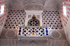 Castle Sammezzano, balcony with bay window Stock Image
