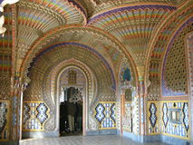Castle Sammezzano, living room interior Royalty Free Stock Photos